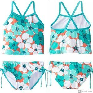 Kanu Surf Floral 2 Piece Swimsuit Girls 24 Mo NWT